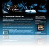 V-Drums Advantage Microsite