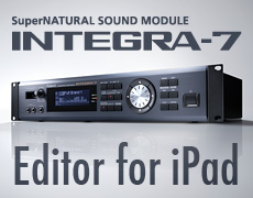 INTEGRA-7 Editor iPad